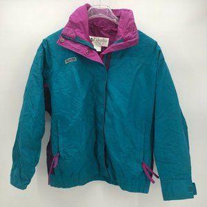 Columbia Womens Bugaboo Jacket Blue Mock Neck XL